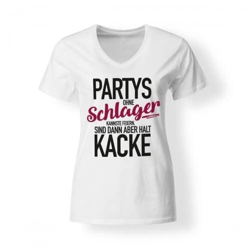 schlagerfans-tshirt-v-damen-party-schlager-kacke-weiss