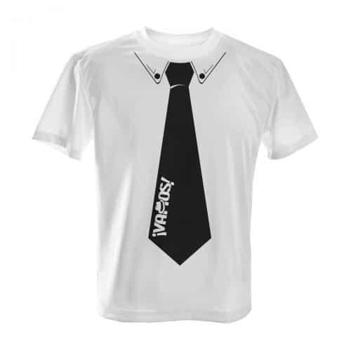 Vamos TShirt weiß Krawatte