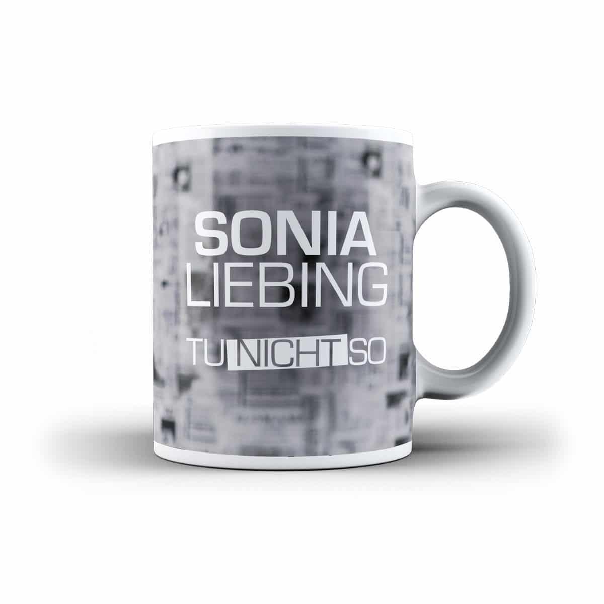 Sonia Liebing Fanartikel Tasse