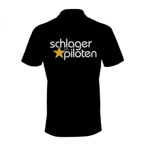 Poloshirt schwarz Die Schlagerpiloten