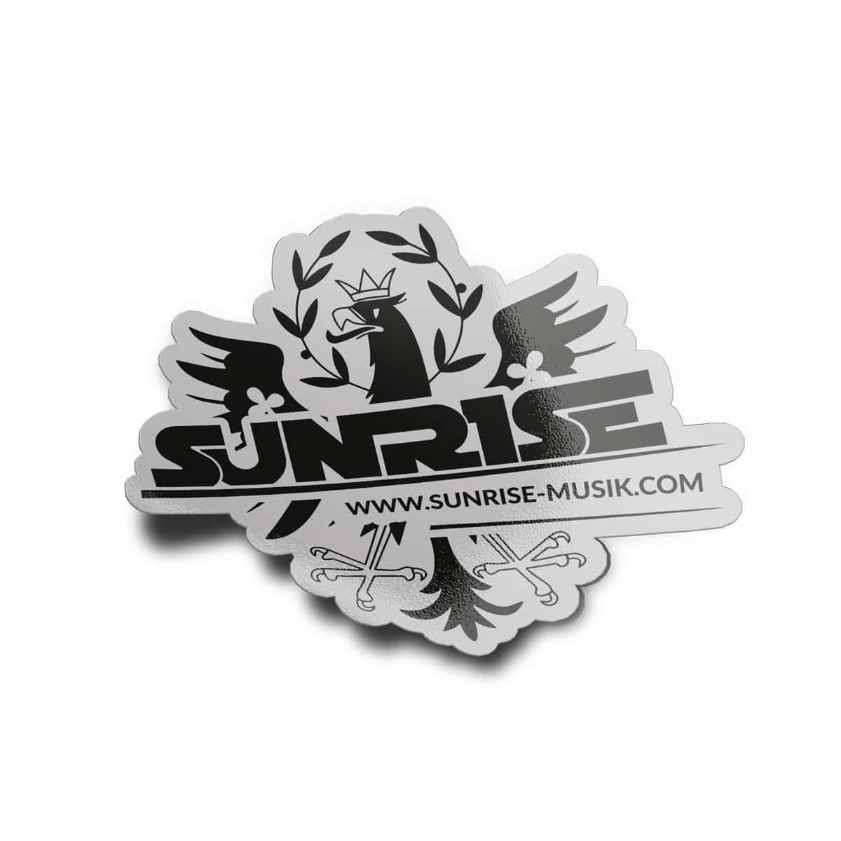 Sunrise Aufkleber Adler Logo silber