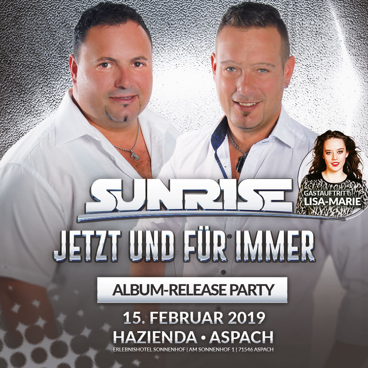Ticket Sunrise Album-Releaseparty