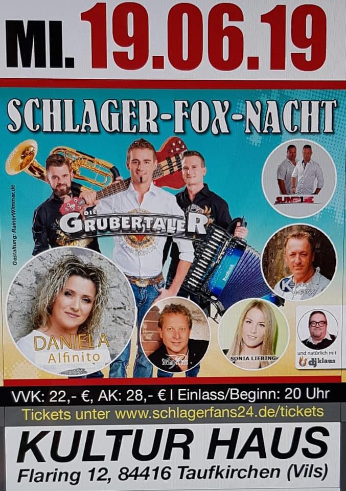 Schlager Fox Nacht Taufkirchen 2019 Tickets kaufen