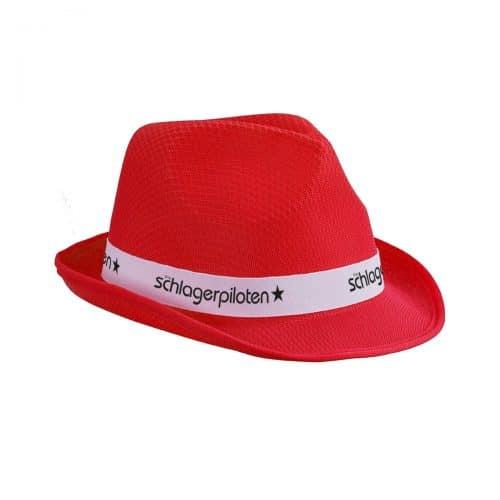 Schlagerpiloten Hut Rot