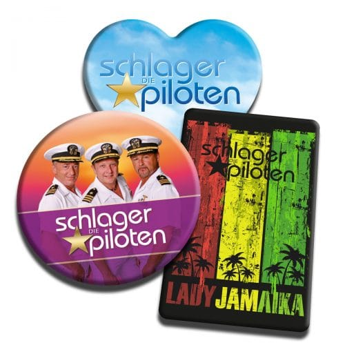 Magnet Button Schlagerpiloten 3er Set