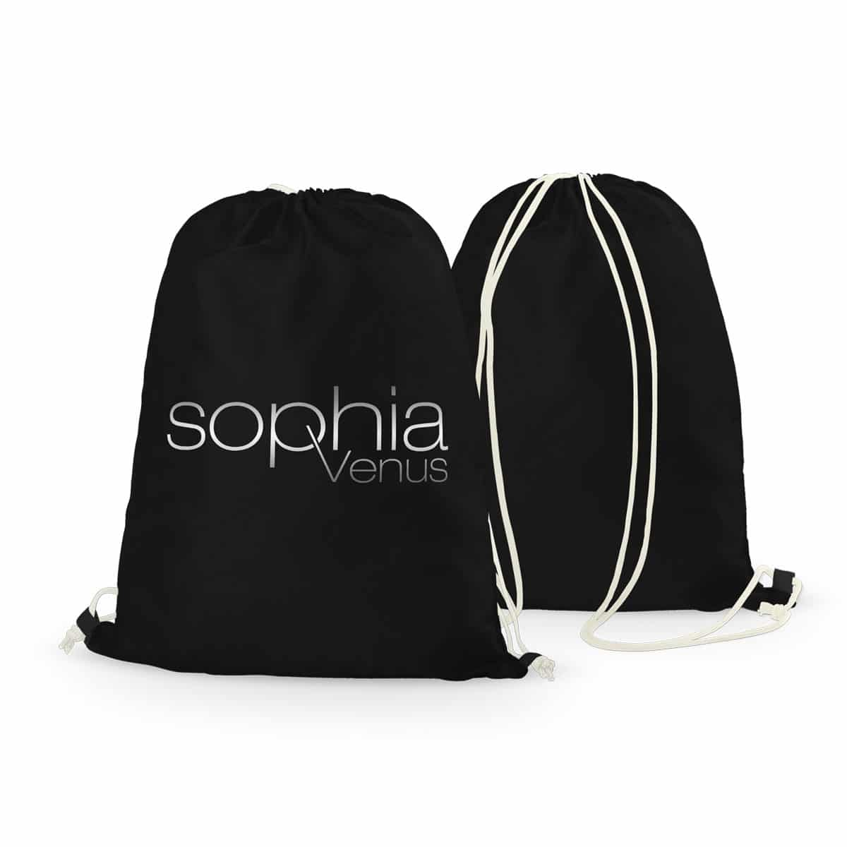 Rucksack Sophia Venus Logo schwarz