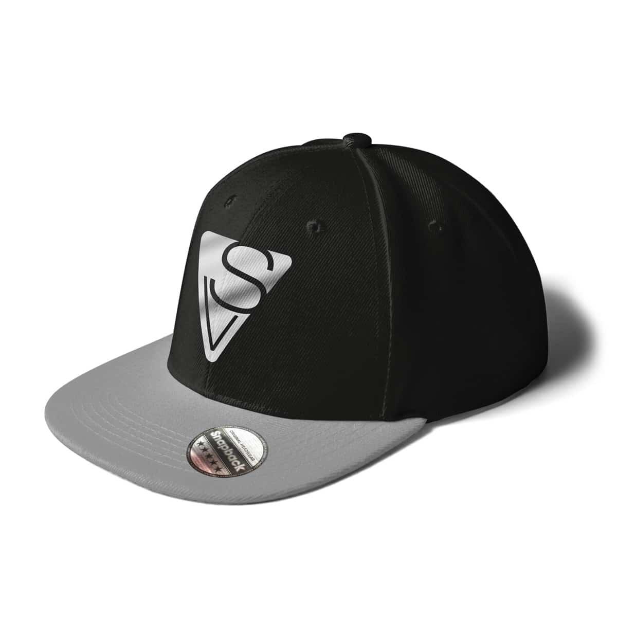 Cap Snapback Sophia Venus Logo schwarz-grau