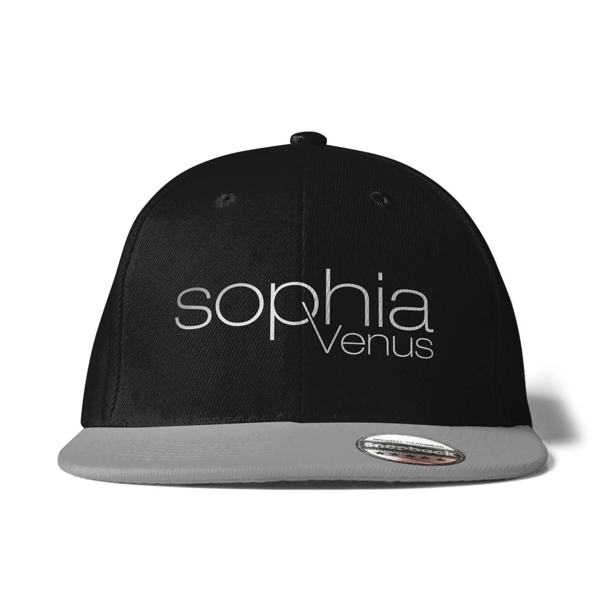 Cap Snapback Sophia Venus Schriftzug schwarz-grau