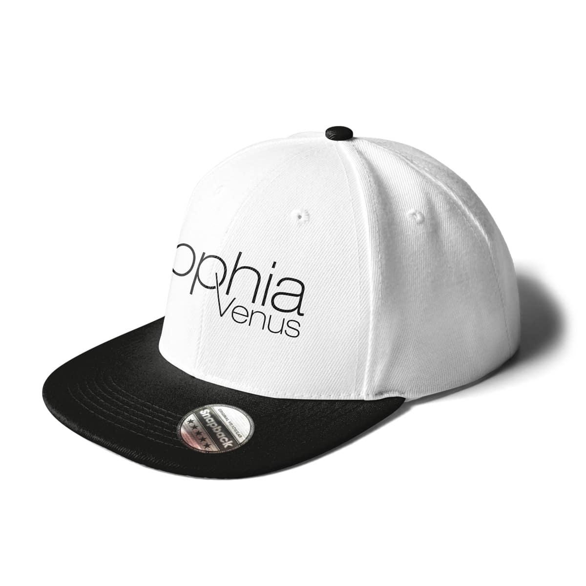 Cap Snapback Sophia Venus Schriftzug weiss-schwarz