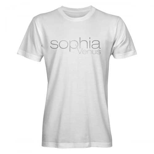 T-Shirt Herren Sophia Venus weiß