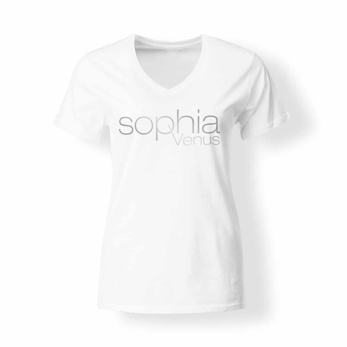 T-Shirt Damen Sophia Venus weiß