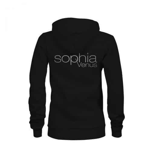 Zip Hoodie Damen Sophia Venus schwarz