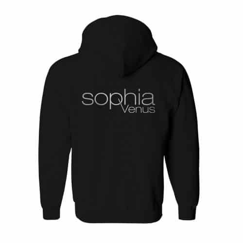 Zip Hoodie Herren Sophia Venus schwarz