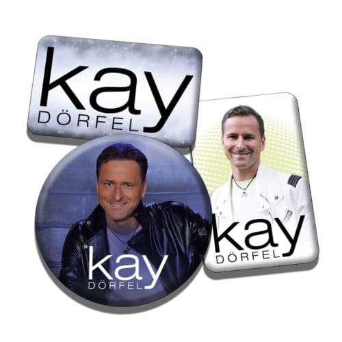 Kay Dörfel Magnet Button 3er Set