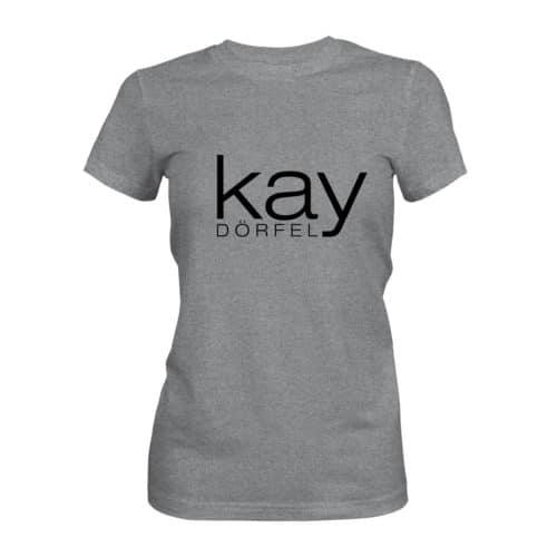 T-Shirt Damen Kay Dörfel grau