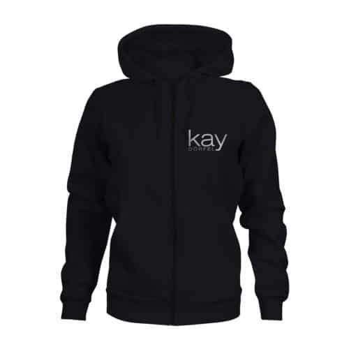 zip hoodie damen kay dörfel schwarz