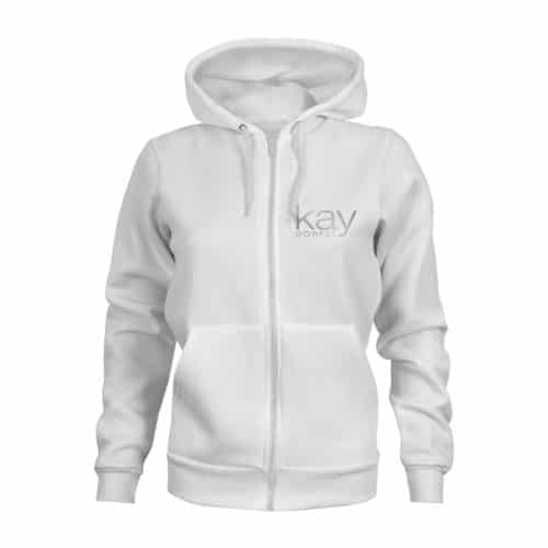 zip hoodie damen kay dörfel weiß