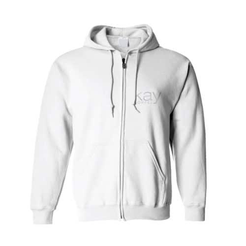 zip hoodie kay dörfel weiß