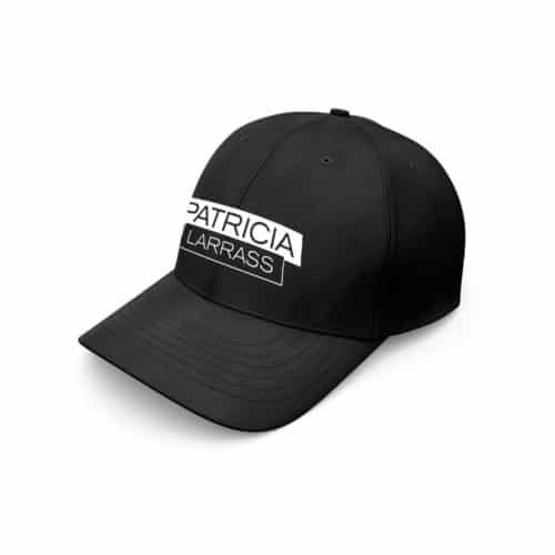 baseball cap patricia larras logo schwarz