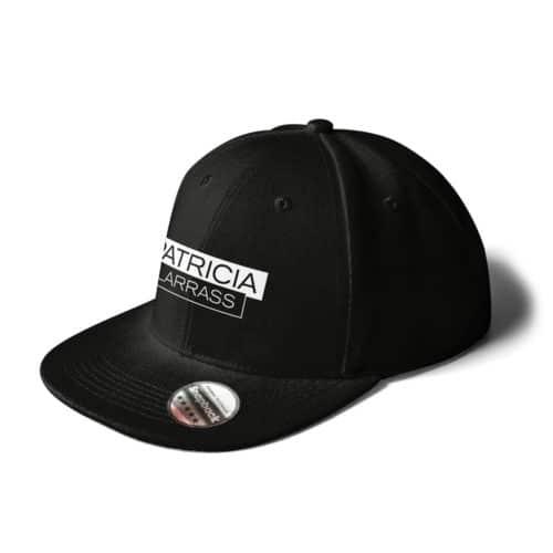 cap snapback patricia larras logo schwarz