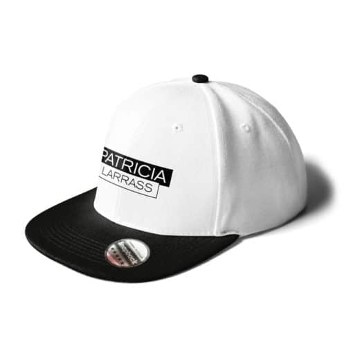 cap snapback patricia larras logo weiss-schwarz