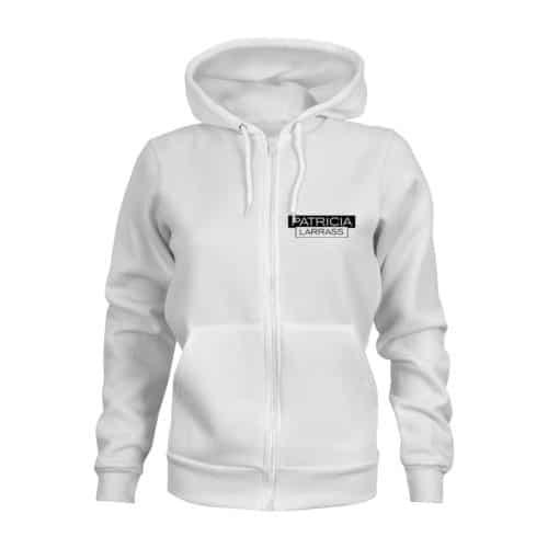 zip hoodie patricia larras weiß