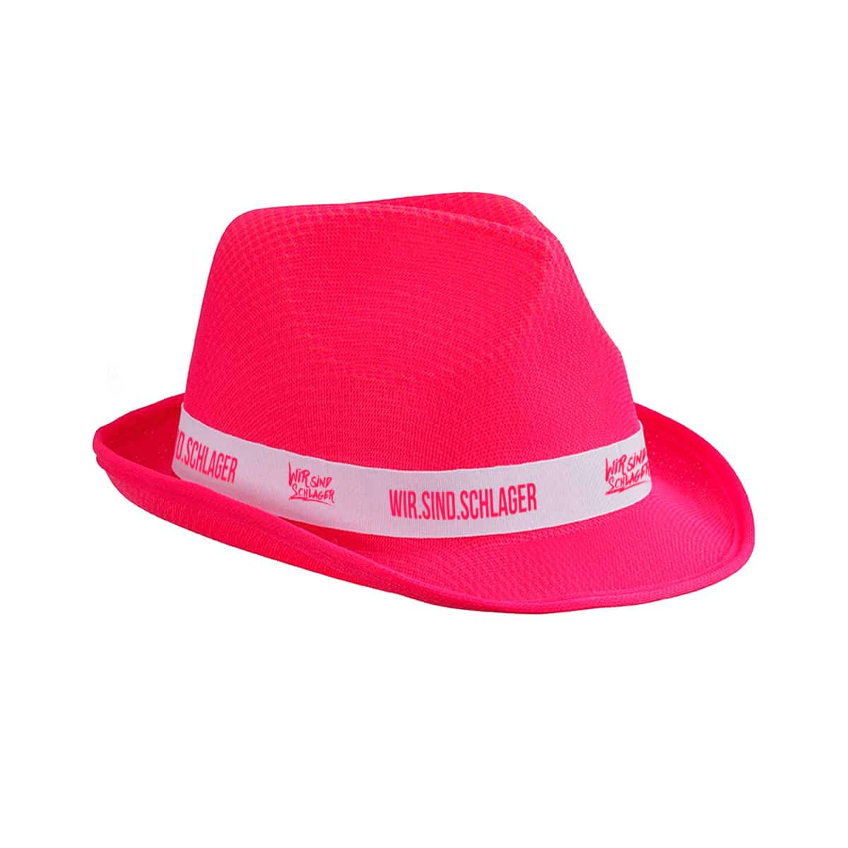 Hut Wir sind Schlager pink-weiss