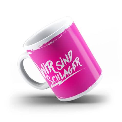 Tasse wir sind schlager pink