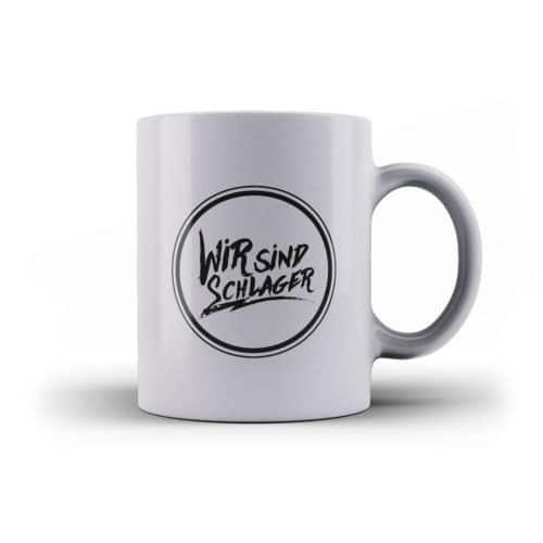Tasse wir sind schlager silber