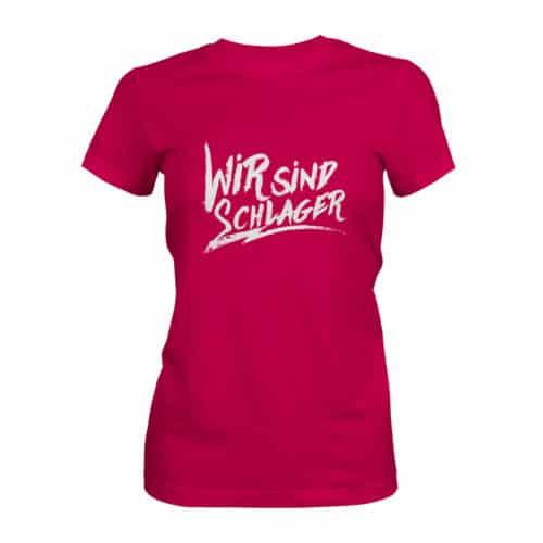 T-Shirt Damen Wir sind Schlager pink