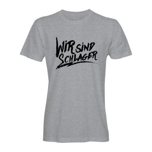 T-Shirt Herren Wir sind Schlager grau