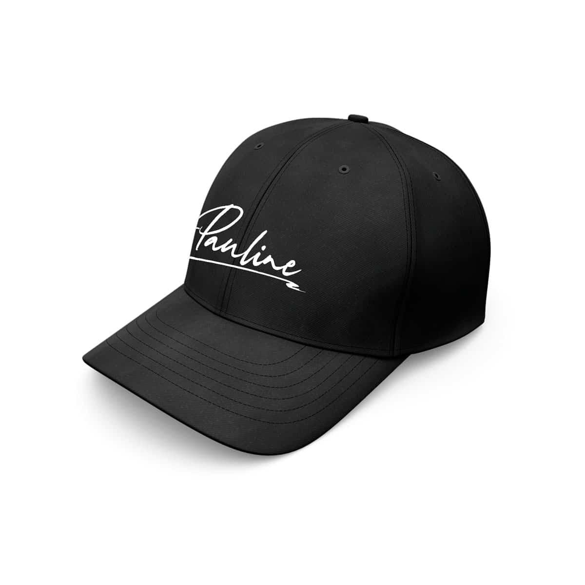 baseball cap pauline logo schwarz