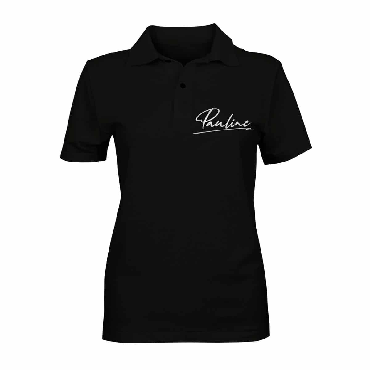 Poloshirt Pauline schwarz Damen