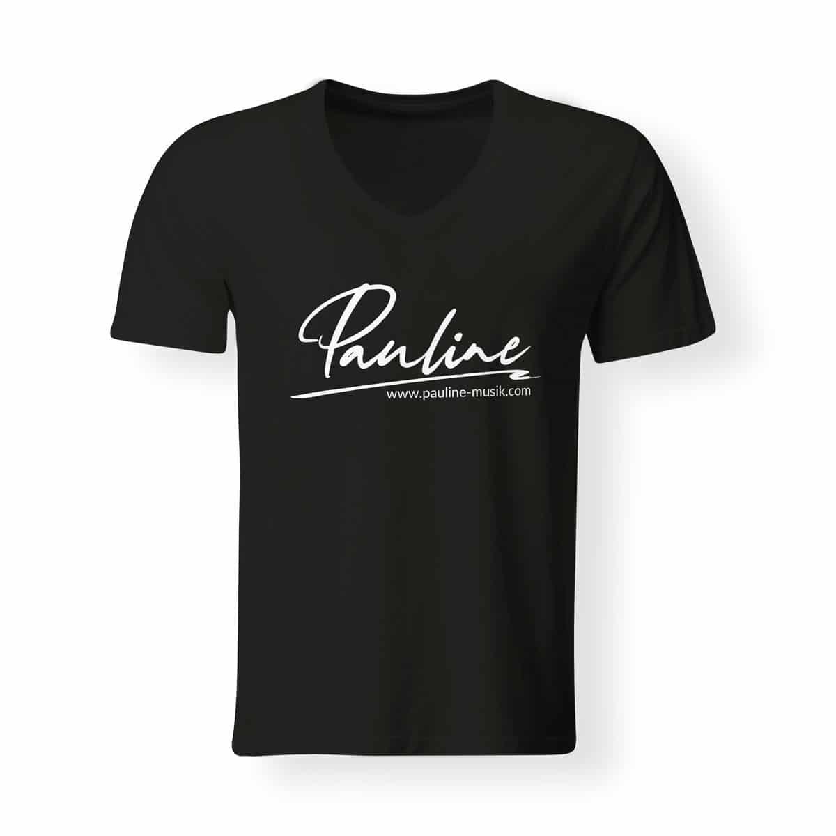 T-Shirt V-Neck Herren Pauline schwarz