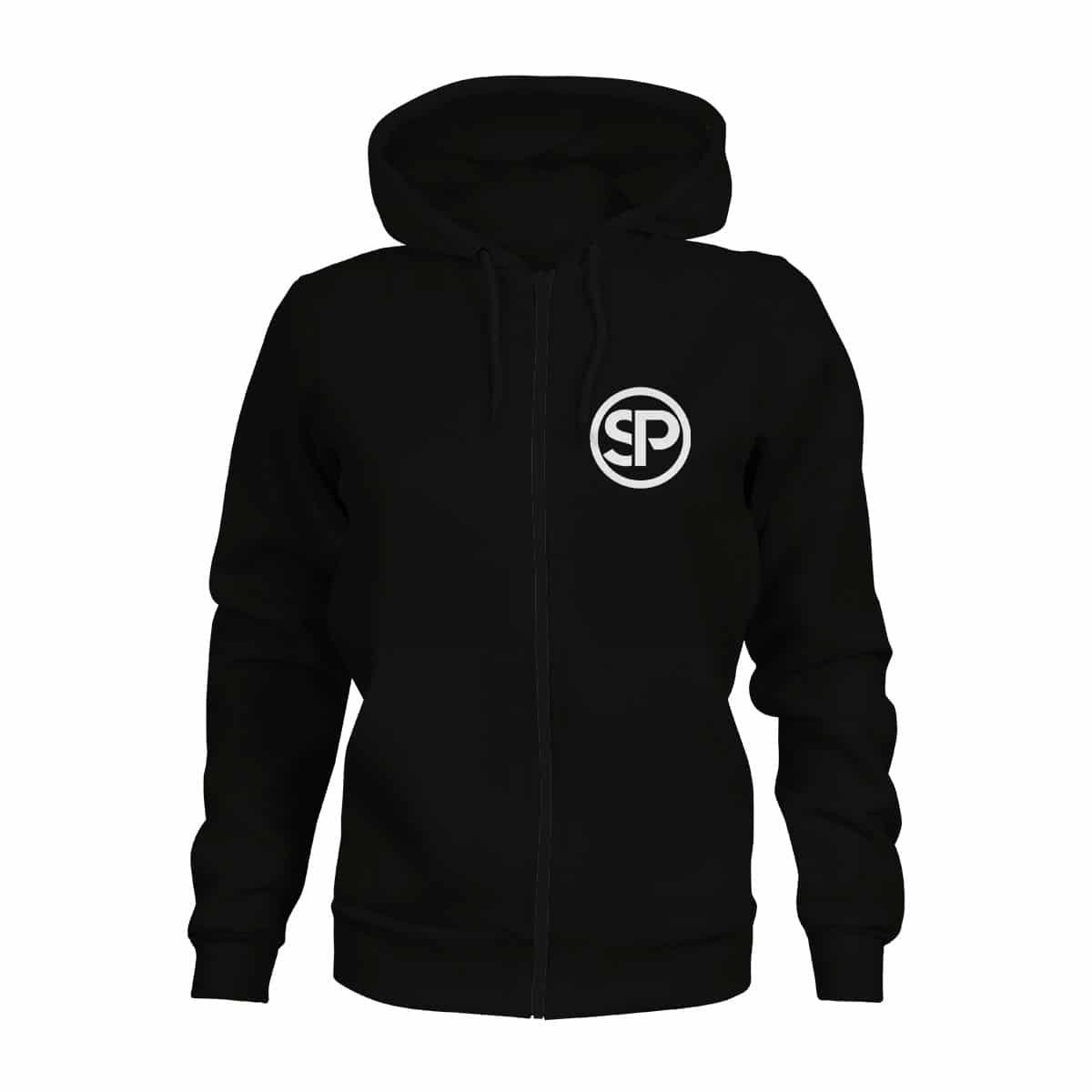 zip hoodie damen sven polenz schwarz
