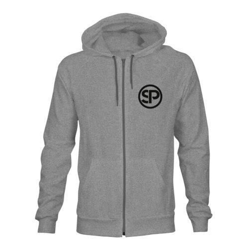 zip hoodie unisex sven polenz grau