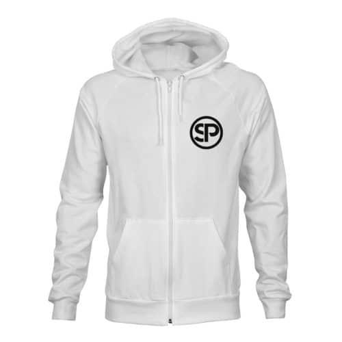 zip hoodie unisex sven polenz weiß