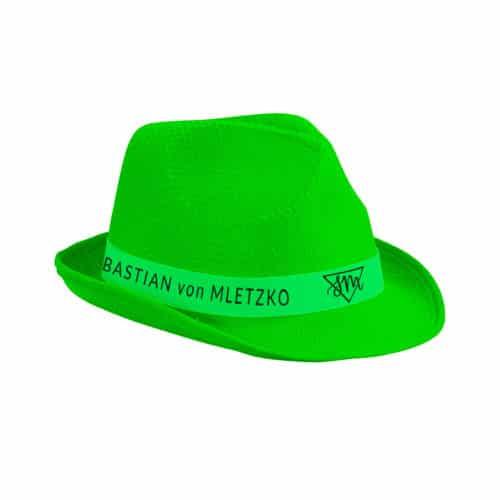 Sebastian von Mletzko Hut neongrün