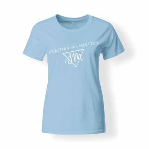 Sebastian von Mletzko T-Shirt Damen hellblau