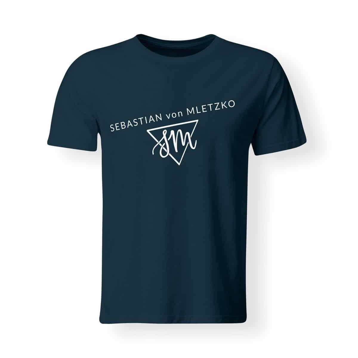 Sebastian von Mletzko T-Shirt Herren navy
