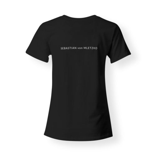 Sebastian von Mletzko T-Shirt Damen V-Neck schwarz