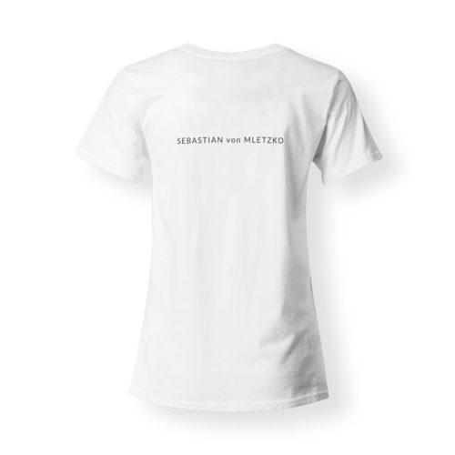 Sebastian von Mletzko T-Shirt Damen V-Neck weiss