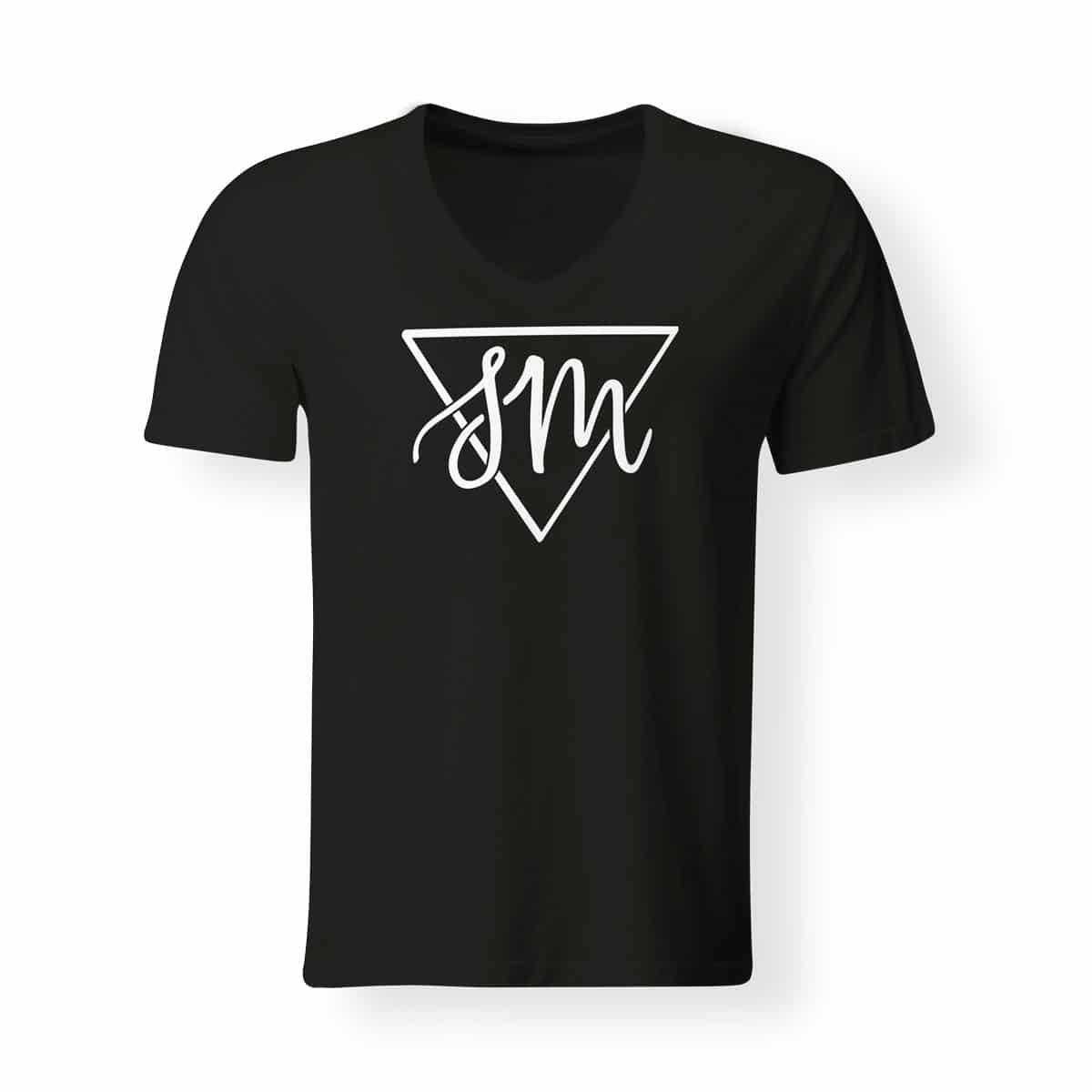 Sebastian von Mletzko T-Shirt Herren V Neck schwarz