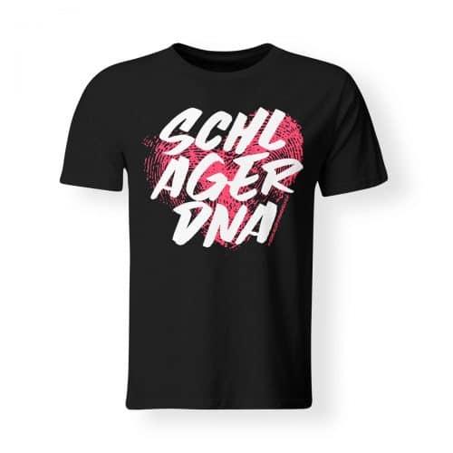 T-Shirt Herren Schlager DNA schwarz