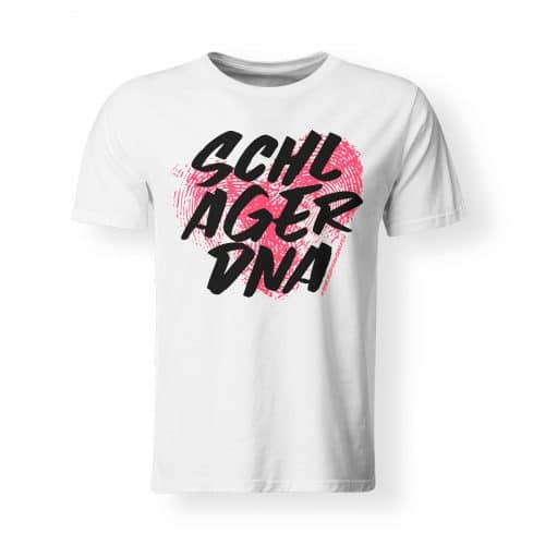 T-Shirt Herren Schlager DNA weiß