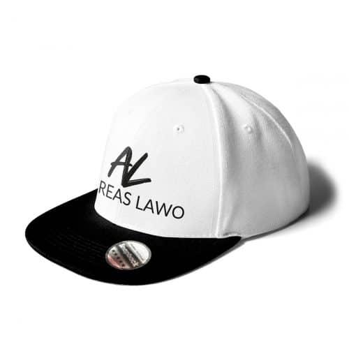 Andreas Lawo Cap Snapback weiß schwarz Logo