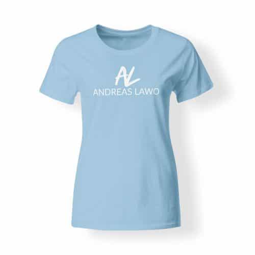 Andreas Lawo T-Shirt Damen hellblau