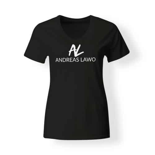 Andreas Lawo T-Shirt Damen schwarz V-Neck