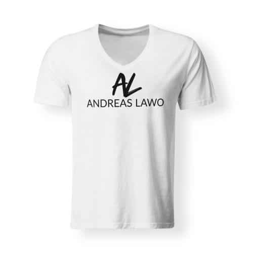 Andreas Lawo T-Shirt weiß V-Neck