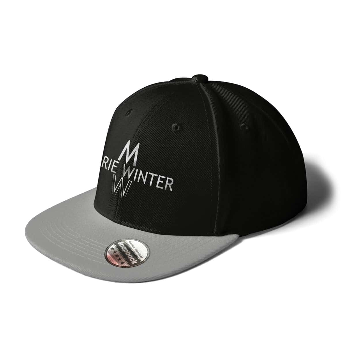 Cap Snapback Marie Winter schwarz-grau